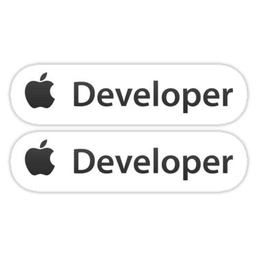 iOS Developer ×2 Sticker