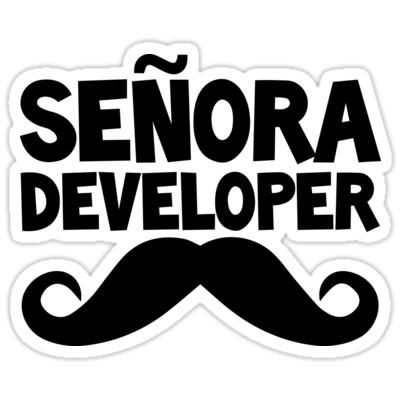 Señora Developer Sticker