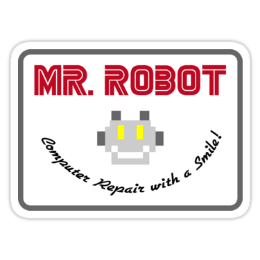 Mr. Robot Patch Sticker