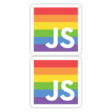 PrideJS ×2 Sticker