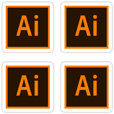 Adobe Illustrator CC ×4 Sticker