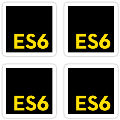 ES6 (Black) ×4 Sticker