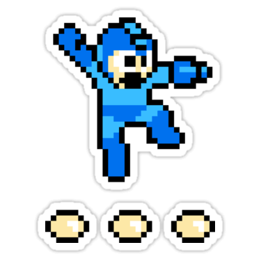 Mega Man (8-bit) Sticker