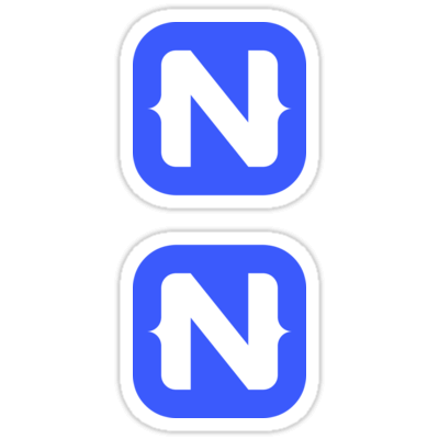 NativeScript ×2 Sticker