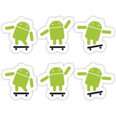 Android Skating ×2 Sticker