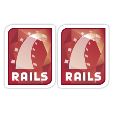 Ruby on Rails ×2 Sticker