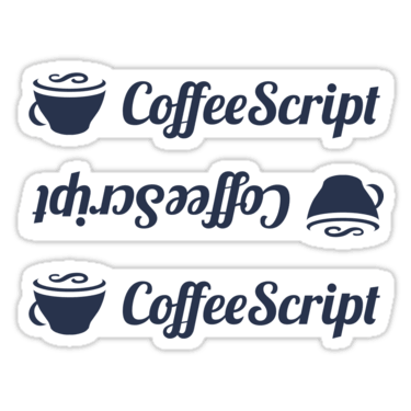 CoffeeScript ×3 Sticker