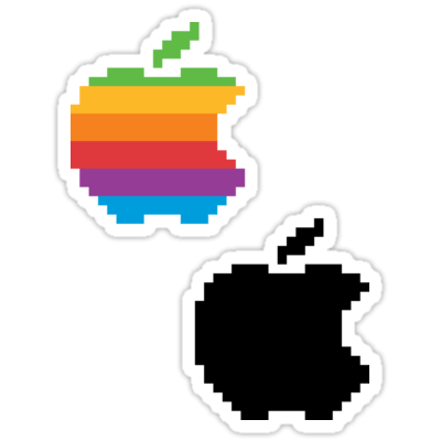 Apple 8-bit ×2 Sticker