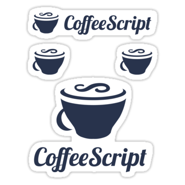CoffeeScript ×4 Sticker