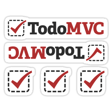 TodoMVC ×5 Sticker