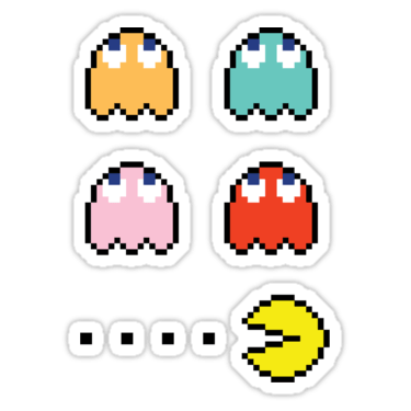 Pac-Man + Ghosts (Up) Sticker