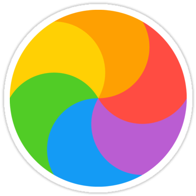 Spinning Pinwheel Sticker