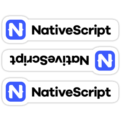 NativeScript ×3 Sticker
