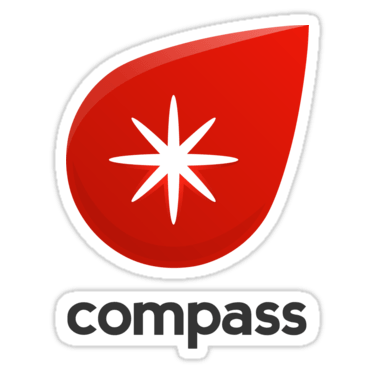 Compass ×3 Sticker