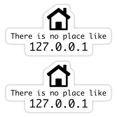 There is no place like 127.0.0.1 ×2 Sticker