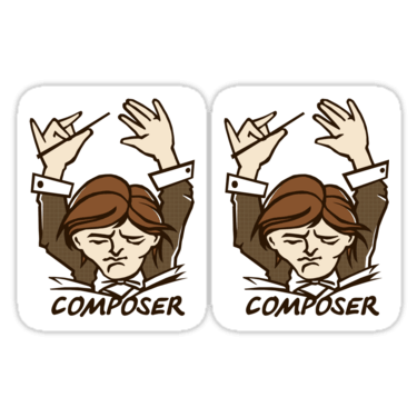 Composer ×2 Sticker