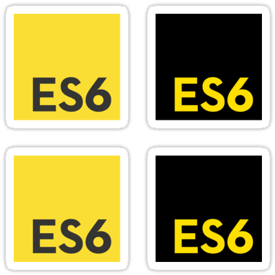 ES6 (Yellow and Black) ×4 Sticker