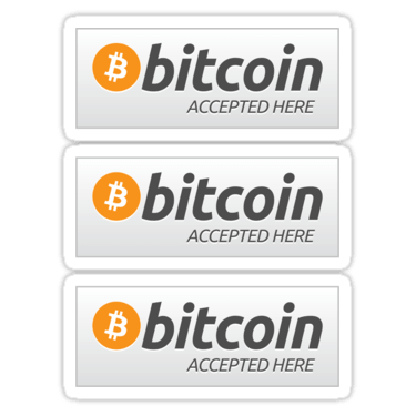 Bitcoin ×3 Sticker
