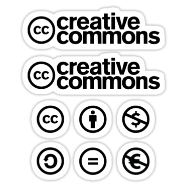 Creative Commons ×8 Sticker