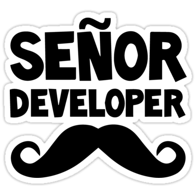 Señor Developer Sticker