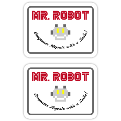 Mr. Robot Patch ×2 Sticker