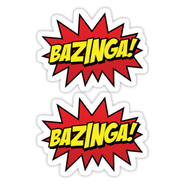 Bazinga! ×2 Sticker