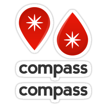 Compass ×4 Sticker