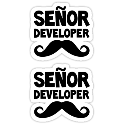 Señor Developer ×2 Sticker
