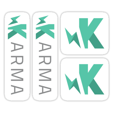 Karma Test Runner ×4 Sticker