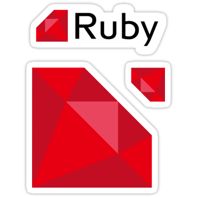 Ruby ×3 Sticker