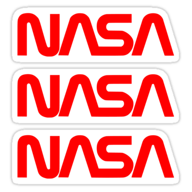NASA ×3 Sticker