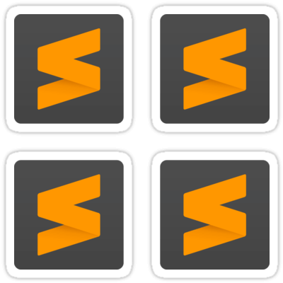 Sublime Text ×4 Sticker