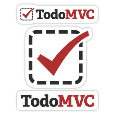 TodoMVC ×3 Sticker
