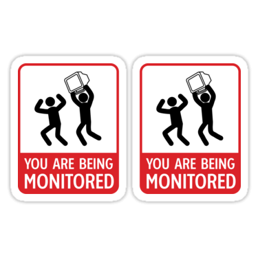 You Are Being Monitored ×2 Sticker