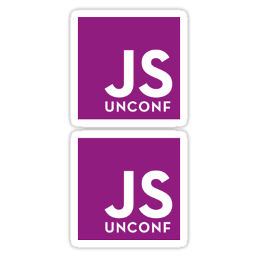 JSUnconf ×2 Sticker