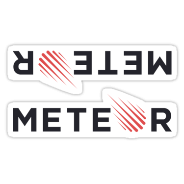 Meteor ×2 Sticker