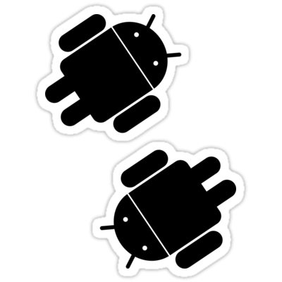 Android (Black) ×2 Sticker