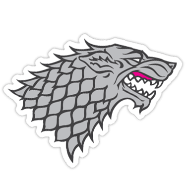 House Stark Sigil (Game of Thrones) Sticker