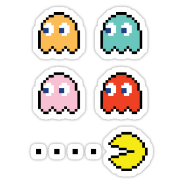 Pac-Man + Ghosts (Left) Sticker