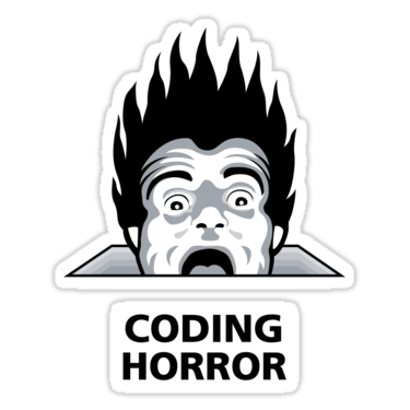Coding Horror Sticker