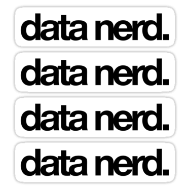 data nerd. ×4 Sticker