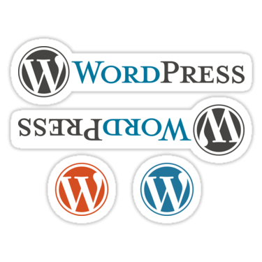 WordPress ×4 Sticker