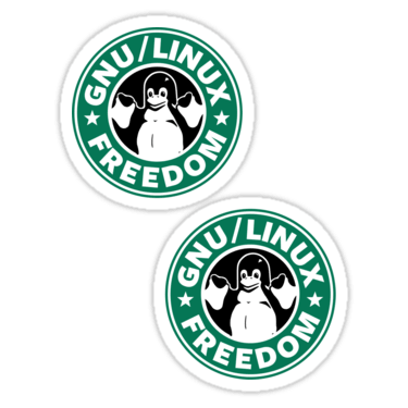 GNU/Linux Freedom ×2 Sticker