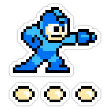 Mega man 8 bit sticker