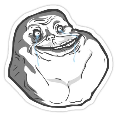 Meme Forever Alone Sticker