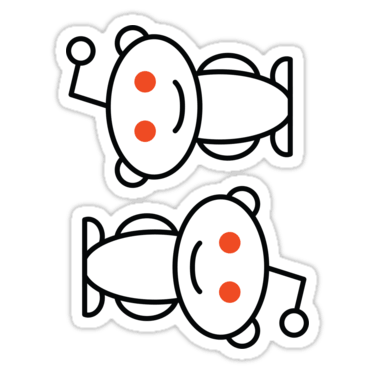 Reddit Alien ×2 Sticker