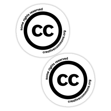Creative Commons ×2 Sticker