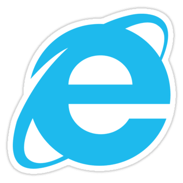 Internet Explorer Sticker