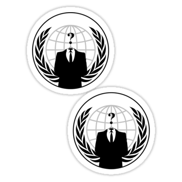 Anonymous ×2 Sticker