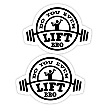Do You Even Lift Bro Sticker